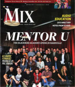 Mentor U - Mix Magazine cover with BBA