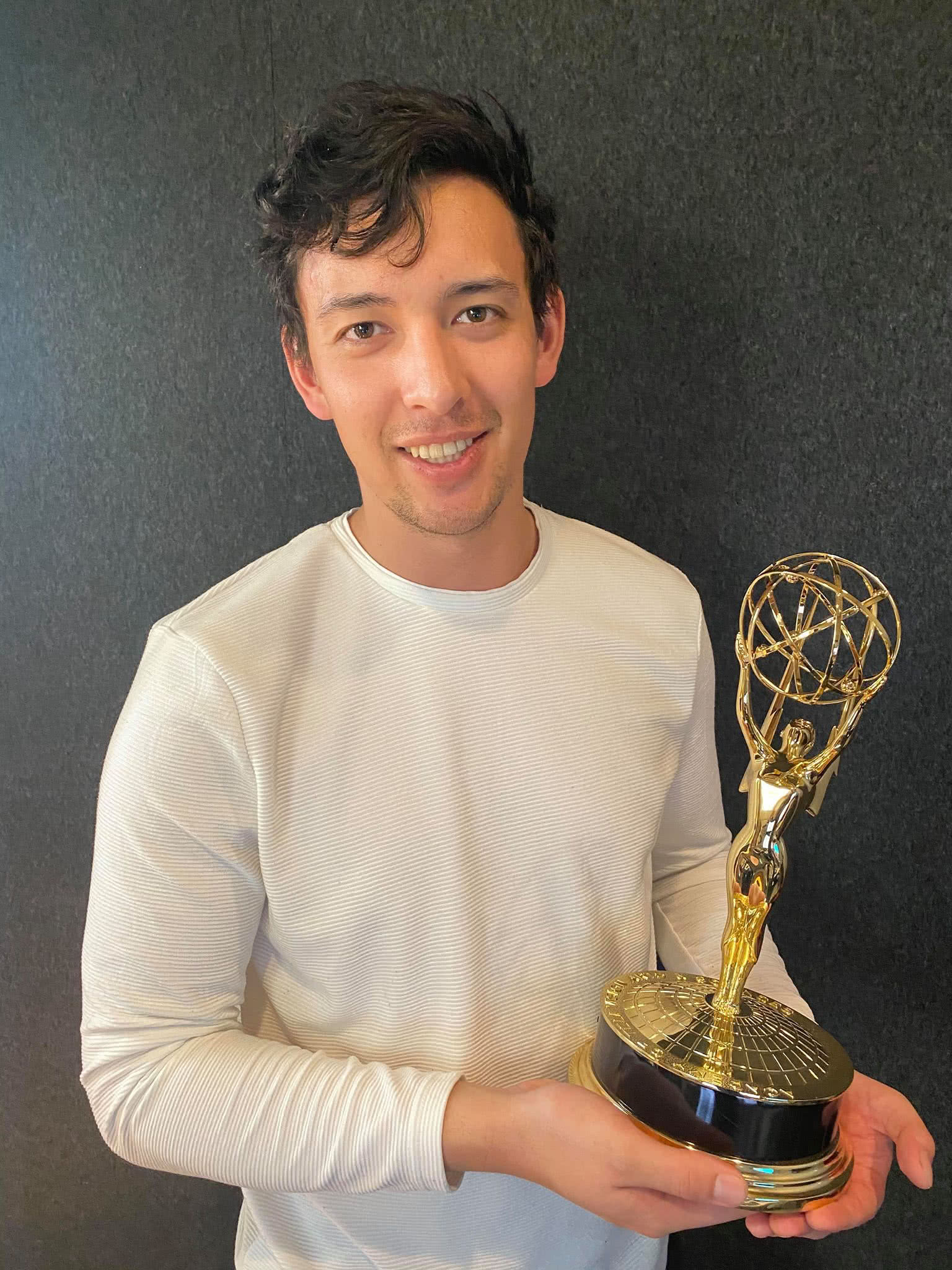 Ciel with his emmy