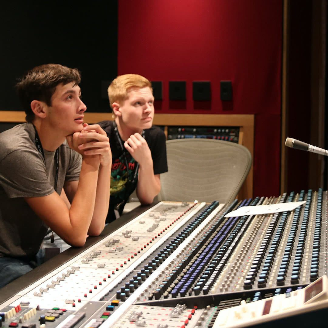 Students at the console