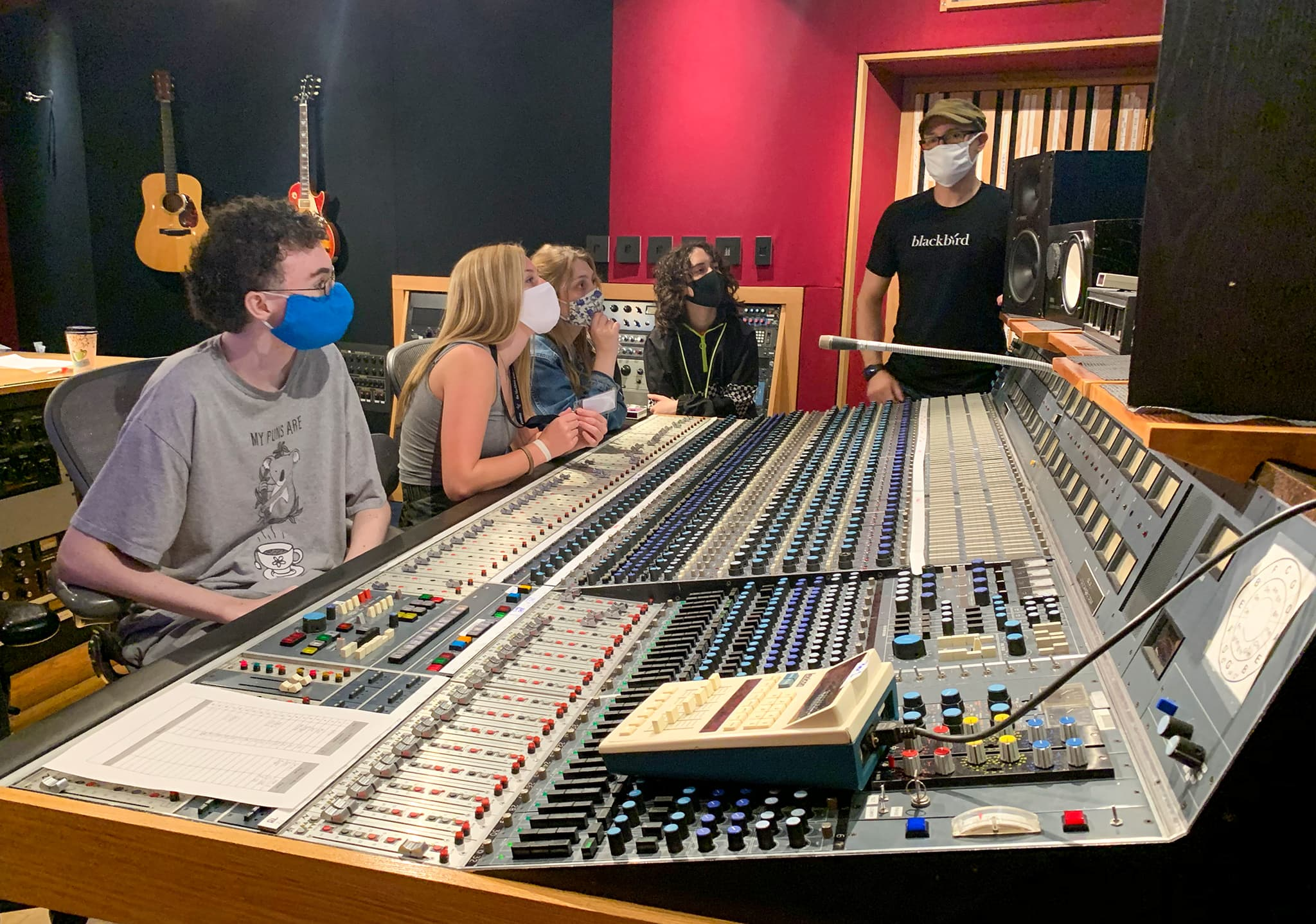 campers at the neve 8078 console