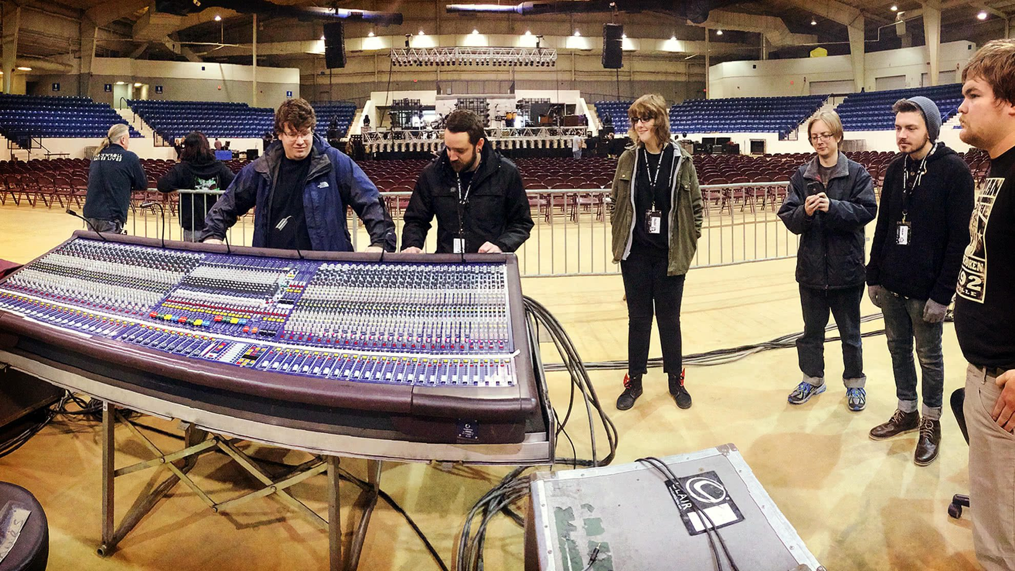 live sound students assist at lee brice show