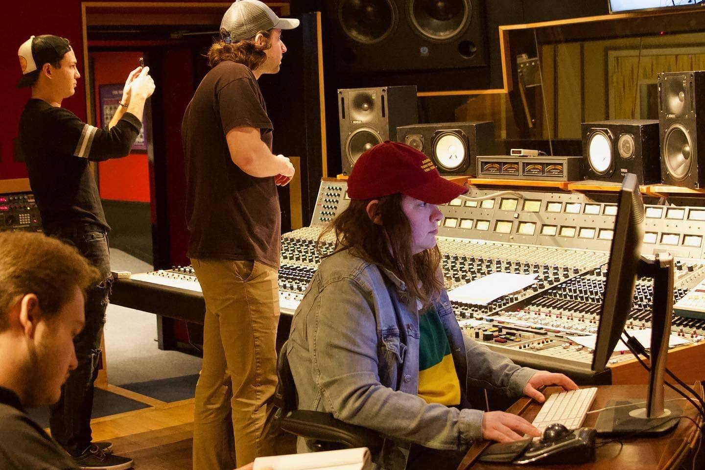 sound engineers in studio a