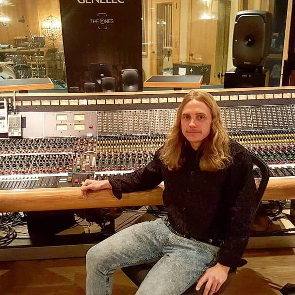 Colby at the console